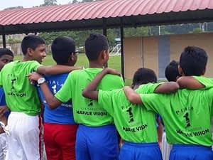 Corporate Social Responsibility – Sponsored Jersey to School for Football Match